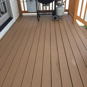 brown front patio
